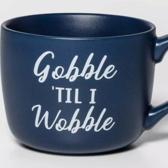 5/$25 NWT Threshold Gobble Til I Wobble Mug